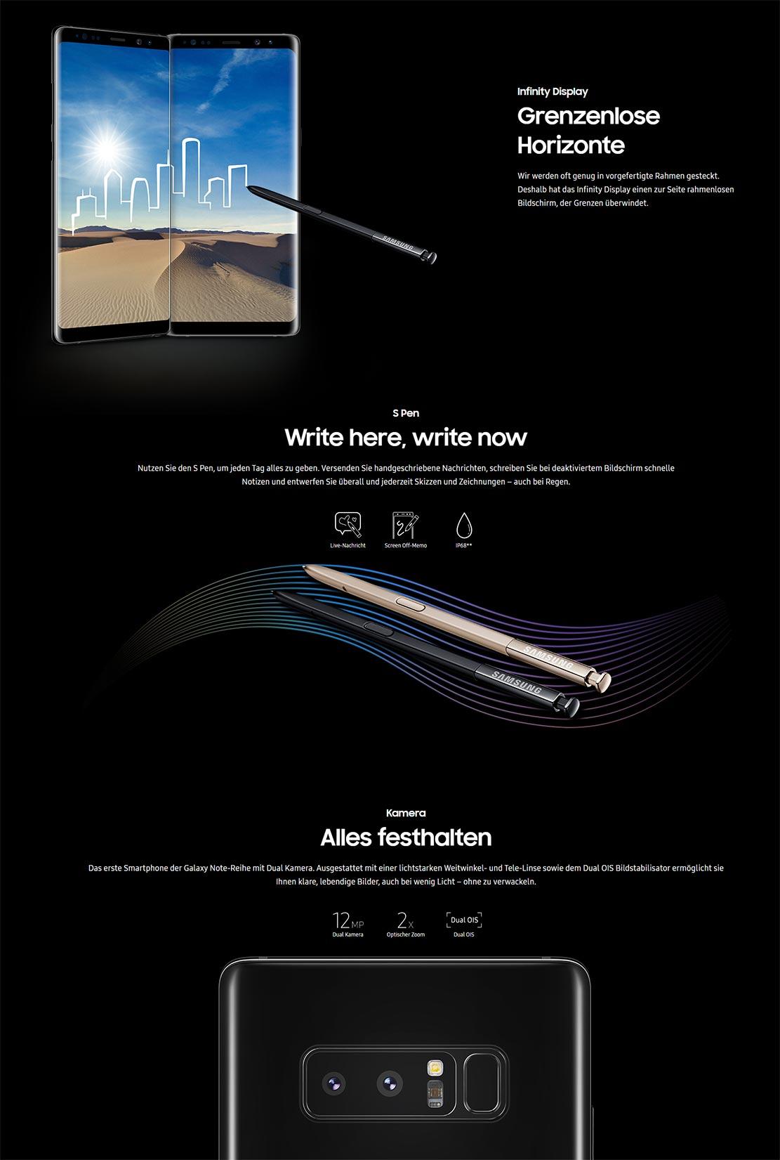 Grenzenloser Spaß: Das Samsung Galaxy Note8.