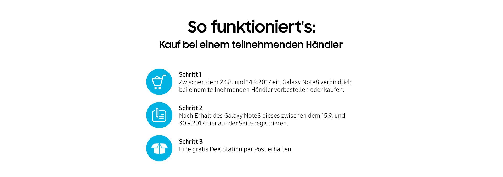 Samsung Galaxy Note8 vorbestellen - So funktioniert's