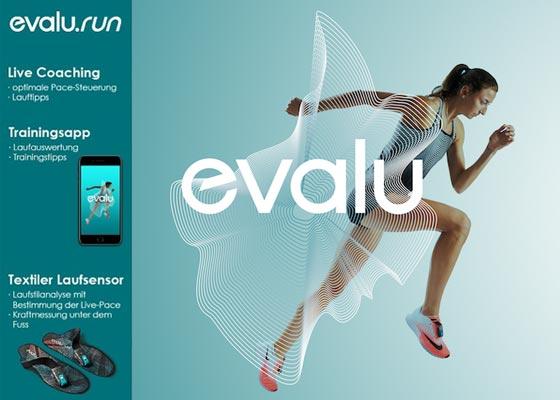 Smarte Schuhsole mit Coaching-App. Erhalte mit Evalu.Run Dein individuelles Coaching dank präziser Sensoren. Mehr …
