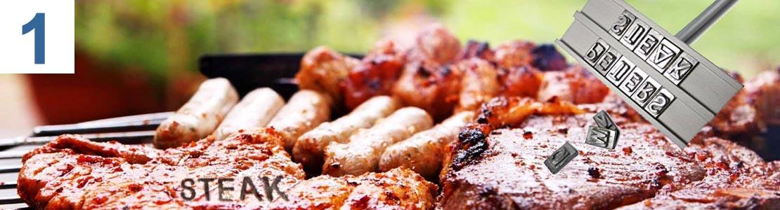 Crazy Kitchen BBQ Grillbrandeisen mit wechselbaren Buchstaben