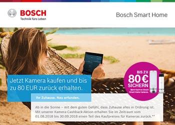 Bosch SmartHome Geld-Zurück-Aktion beim Kauf der smarten Kameras