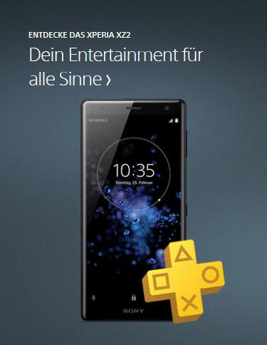 Das Sony Xperia XZ2 im Onlineshop von cw-mobile.de