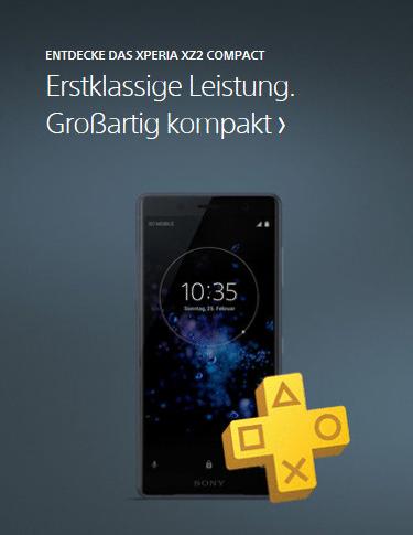 Das Sony Xperia XZ2 Compact im Onlineshop von cw-mobile.de
