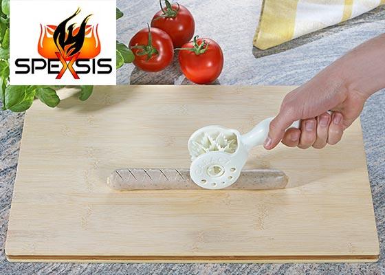 Caract Schneidroller - Grillzubehör zum Einschneiden für Grill- und Bratwürste