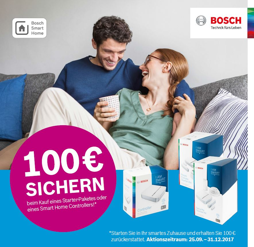 Bosch Smart Home | Cashback Aktion 2017
