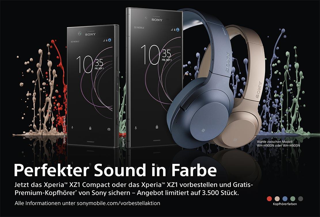 """Im Aktionszeitraum vom 31.08. (13:15 Uhr) bis zum 22.09.2017 erhalten alle """"Vorbesteller"""" mit anschließendem Kauf einen Gratis-Premium-Kopfhörer von Sony. Zur Auswahl stehen zwei Modelle: Der WH-H900N (UVP 299€, Over Ear Kopfhörer) und das kompaktere"""