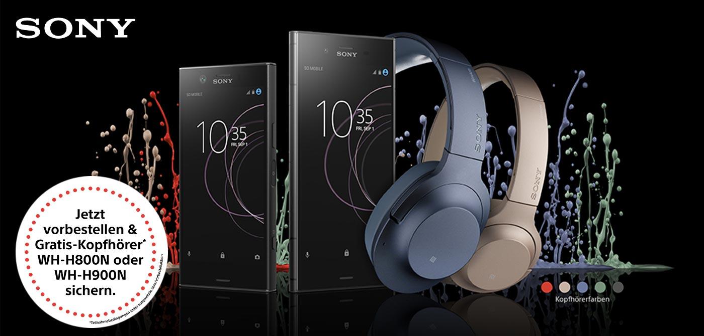 Sony Xperia XZ1 und Xperia XZ1 Compact - Jetzt vorbestellen und Kopfhörer im Wert von 299,- Euro gratis erhalten!*