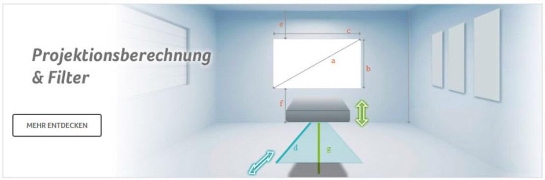 Acer Projektionsberechnung & Filter