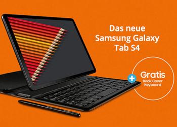 Samsung Galaxy Tab S4 vorbestellen und Book Cover Keyboard gratis erhalten