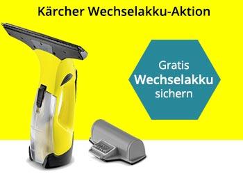 Jetzt einen Kärcher Fenstersauger WV 5 kaufen und gratis Wechselakku erhalten