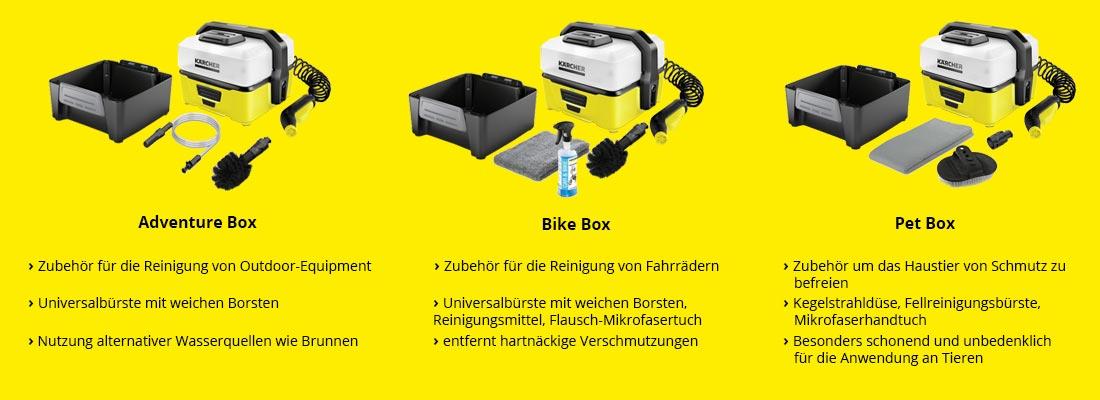 Jetzt einen Kärcher Mobile Outdoor Cleaner OC3 kaufen und eine gratis Zubehörbox erhalten