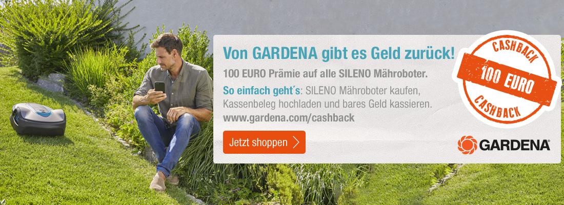 Gardena Sileno Aktionsmodell kaufen und 100 € Cashback sichern