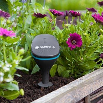 Kontrollieren Sie Außentemperatur und Bodenfeuchte mit dem smart Sensor