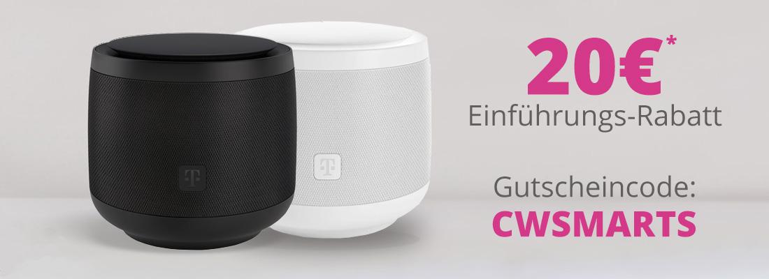 Bei Kauf eines Telekom Smart Speaker erhalten Sie einen Einführungsrabatt von 20€
