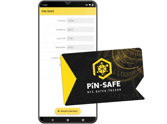 PIN SAFE Karte - PIN SAFE App