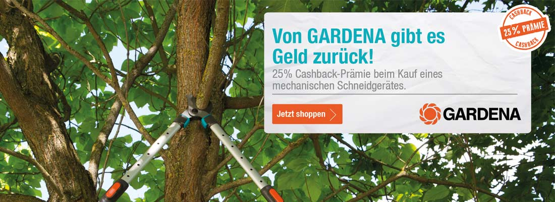 Gardena Aktions Schneidgeräte kaufen und Cashback sichern