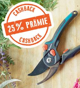25% Cashback auf Gardena Schneidgeräte sichern