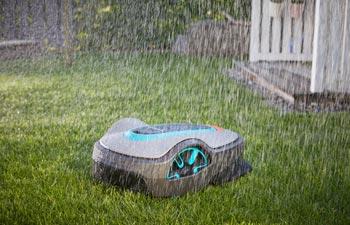 GARDENA Mähroboter funktioniert auch bei Regen