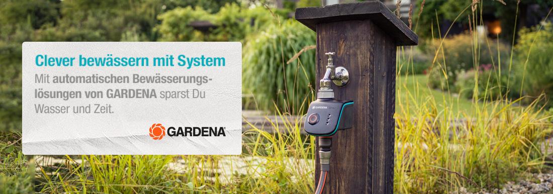 automatische Bewässerung mit Gardena