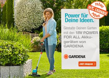 Gardena Aktionsgerät kaufen und 20% Cashback sichern