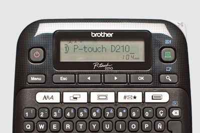 P-Touch D210 - Display