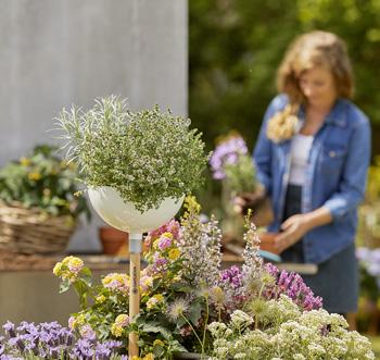 Geben Sie Ihren Pflanzen ein schönes Zuhause mit der Gardena ClickUp! Pflanzschale