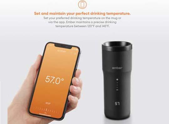 Temperatureinstellung Travel Mug2