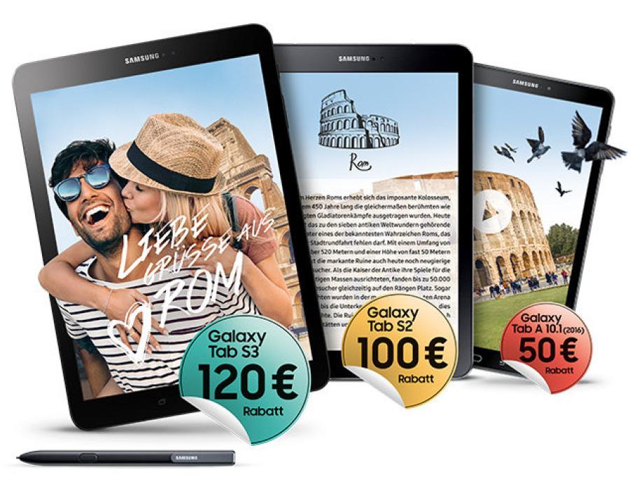 Galaxy Tab kaufen und bis zu 120€ sparen