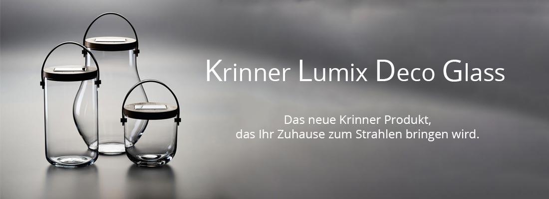Krinner LUMIX Deco Glass – das neueste Mitglied der LUMIX Familie